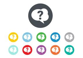 Gratis Question Mark Icon Vector