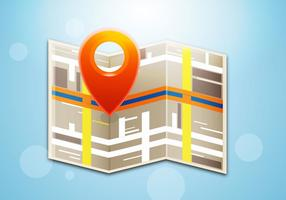 Gratis Map Icon Vector