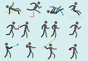 Atletas olímpicos vetoriais