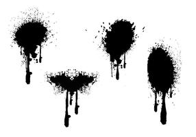 Pintura de aerosol gotea grunge vectores