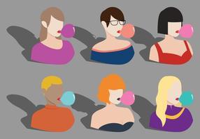 Bubblegum Mädchen Vektoren