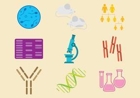 Vecteurs d'icônes de biologie moléculaire
