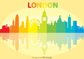 Colorido Londres City Scape Vector