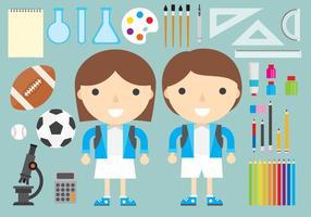 Child School Vectors