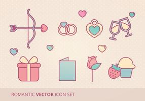 Romántico Vector Icon Set