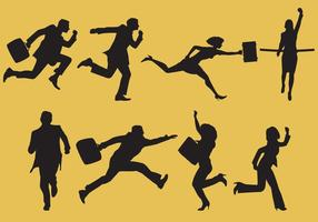 Gente de negocios corriendo vectores