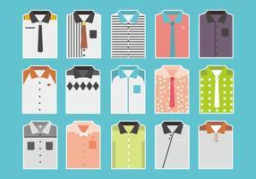 Vetores de camisa dobrada