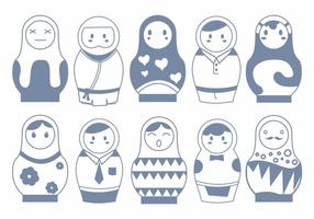 Matryoshka Doll Vectores