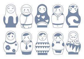 Vecteurs de poupées matryoshka