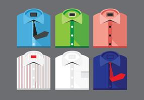 Gevouwen Shirt Vector Set