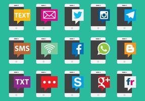 Sociale en mobiele apparaten vectoren