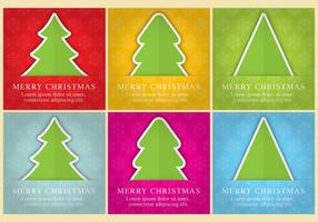 Christmas Tree Vector Tarjetas