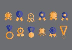 Ícones de vetores de fita do primeiro lugar conjunto 1