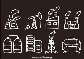 Factory Hand Drawn Vector Icons