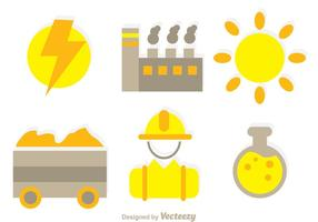 Factory Element Icons vector