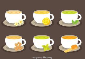 Vetores de coleção de chá