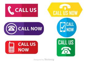 Call Us Flat Vector Icons
