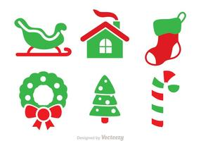 Christmas Duo Tone Vector Pictogrammen