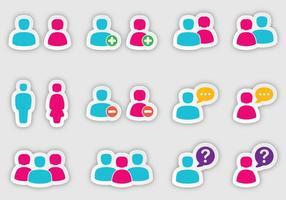 People Sticker Vectors