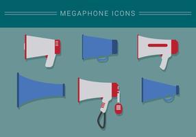 Vecteurs icône megaphone vecteur