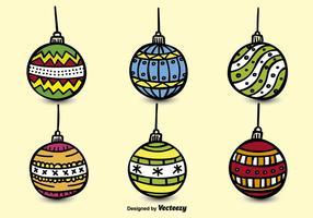 Esferas dibujadas a mano de Navidad