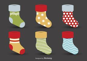 Christmas decorative stockings vector