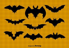 Bat silhouettes vector