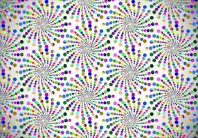 Vetor colorido colorido pontilhado