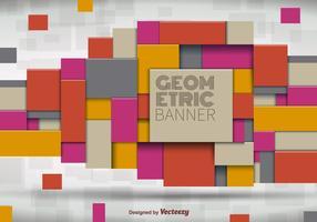 Bannière géométrique