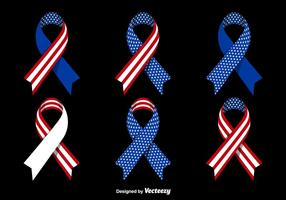 Patriotic ribbons vector