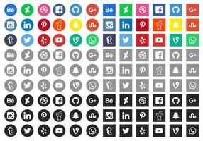 Gratis sociala medier ikoner