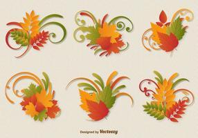 Herbstlaub Ornament Vektoren