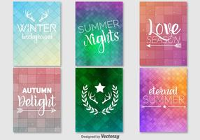 Holiday promotion posters vector