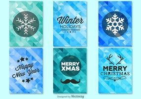Winter christmas background templates vector