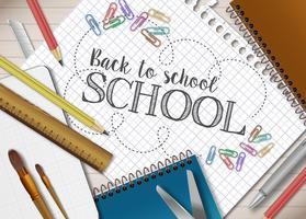 Back to school template vector
