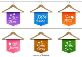 Best sale and quality labels vector