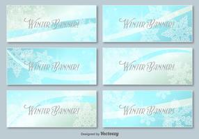 Winterbanner vektor