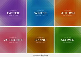 Seasons backgrounds vector