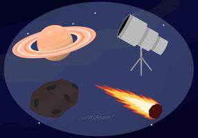 Freie Weltraum-Vektoren