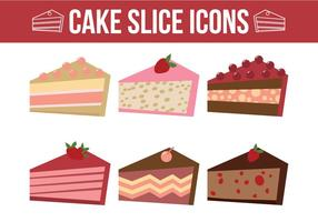 Vetores de fatia de bolo