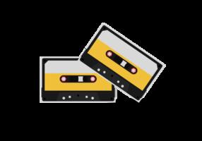 Vectores de cinta de casete