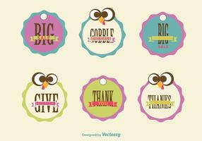 Thanksgiving sale signs vector