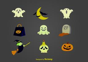 Halloween cartoon icons