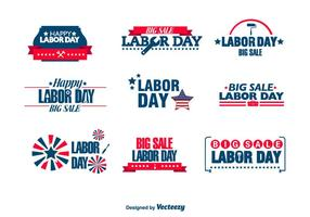 Labor day badges vector