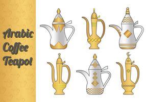Vecteurs de café a café arabes