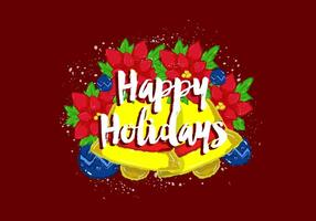 Free Vector Happy Holidays Wallpaper