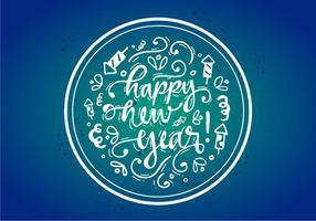 Cartaz de vetor feliz ano novo feliz