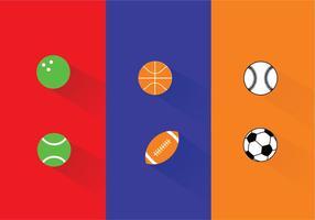 Vecteurs de balles de sport