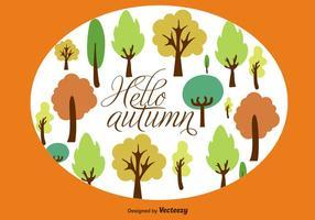 Arrière-plan des arbres d'automne