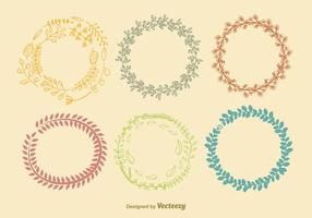 Autumn Color Wreath Vectors